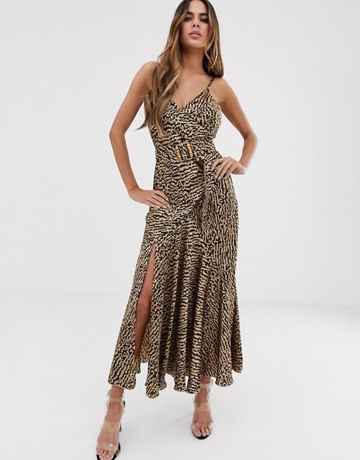 ASOS DESIGN Bias Cut Maxi Slip Dress