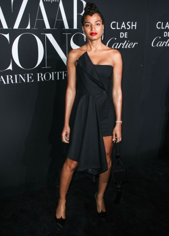 Indya Moore arrives at the 2019 Harper's BAZAAR Celebration of 'ICONS By Carine Roitfeld' held at The Plaza Hotel on September 6, 2019 in Manhattan, New York City, New York, United States.