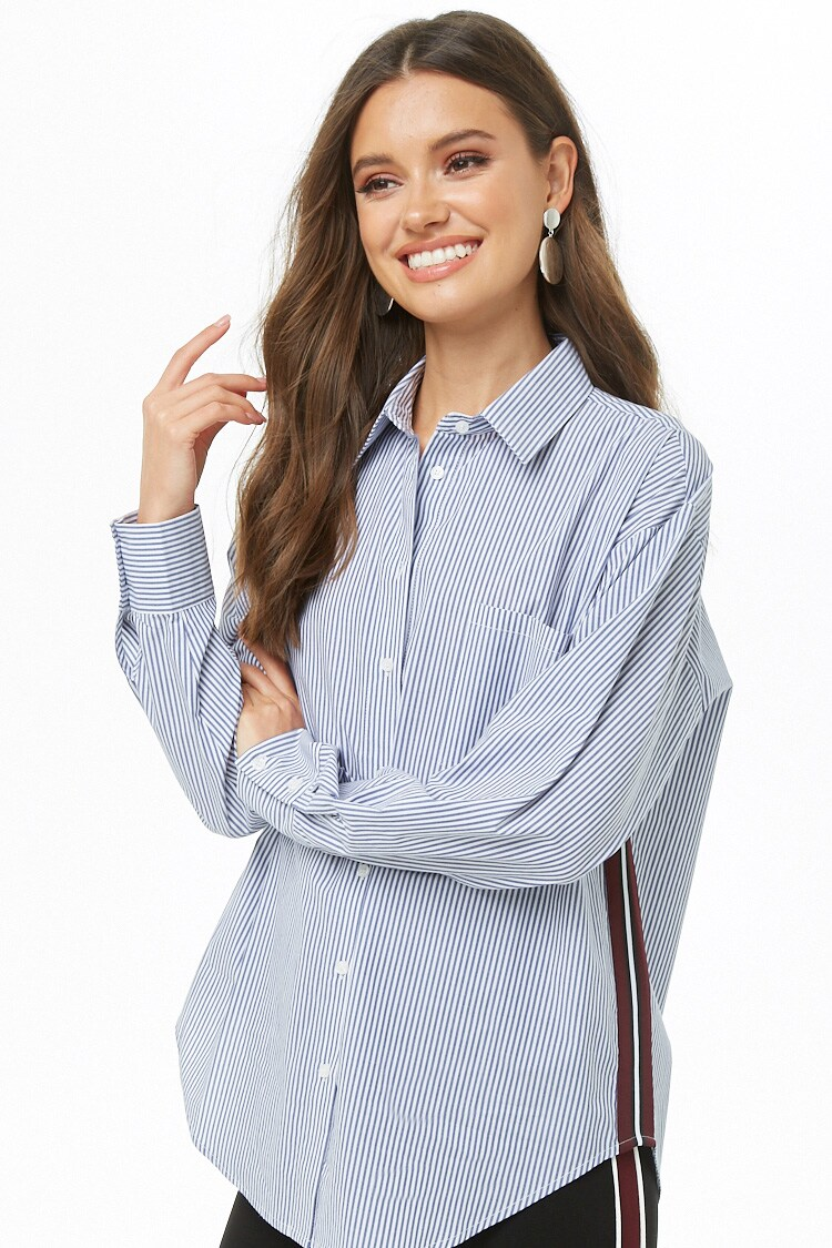 Forever 21 Pinstriped Button-Up Shirt