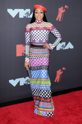 Monica (Monica Denise Brown) attends the 2019 MTV Video...