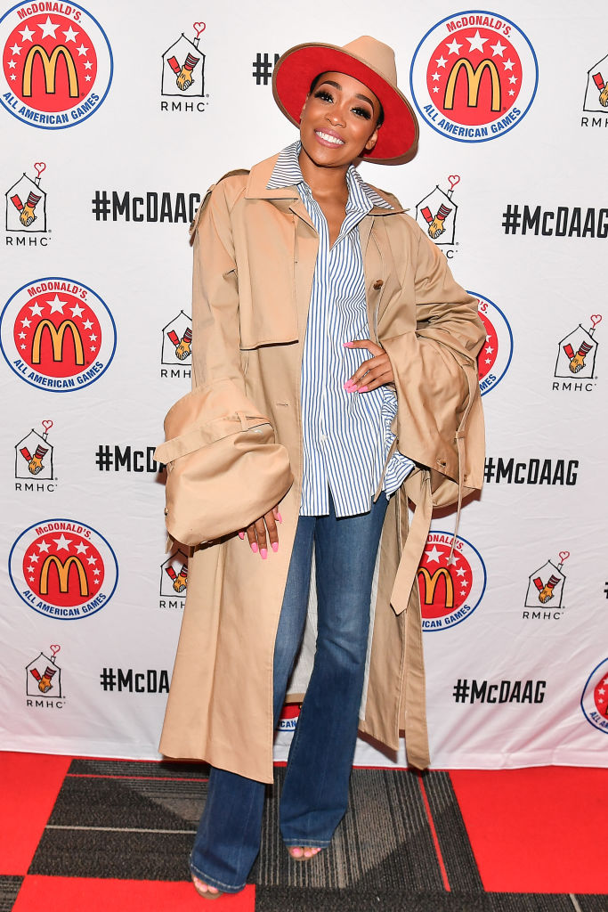 MONICA AT THE 42ND ANNUAL MCDONALD'S ALL AMERICAN GAMES EVENT, 2019
