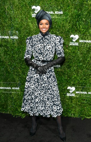 Halima Aden attends the 13th Annual Golden Heart Awards at...