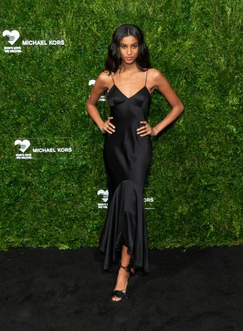 Imaan Hammam attends the 13th Annual Golden Heart Awards at...