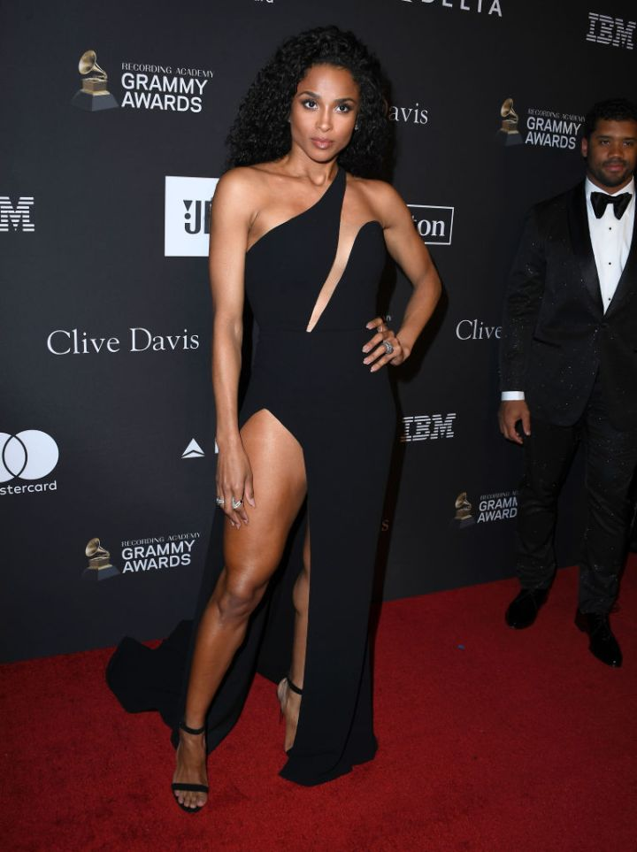 CIARA AT THE RECORDING ACADEMY AND CLIVE DAVIS' 2019 PRE-GRAMMY GALA, 2019