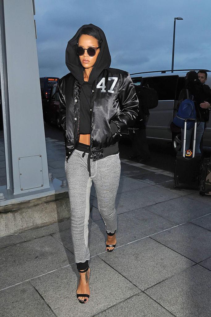 Rihanna, Heathrow Airport, 2012