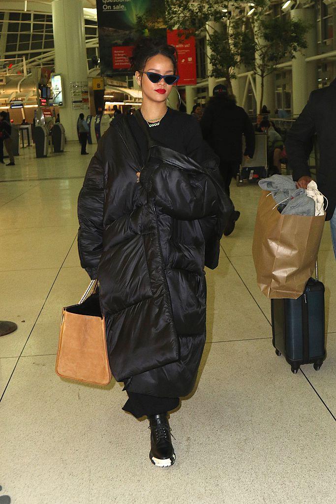 Rihanna At JFK Airport In 2015