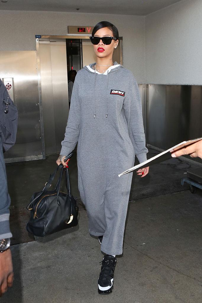 Rihanna At LAX Airport In 2014