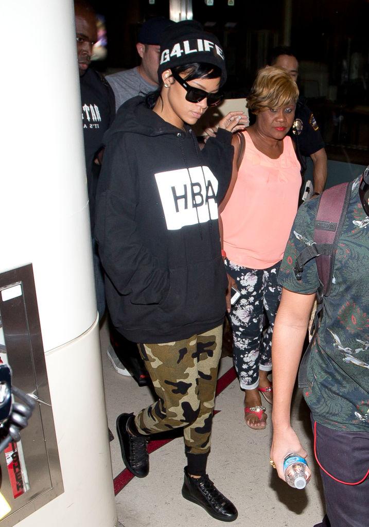 Rihanna At LAX Airport In 2013