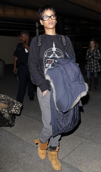 Rihanna At LAX Airport In 2012