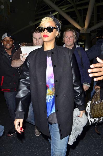 Rihanna At JFK Airport In 2012