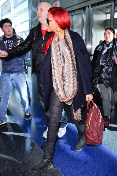 Rihanna At JFK Airport In 2010