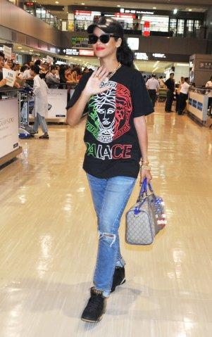 Rihanna Arrives In Tokyo