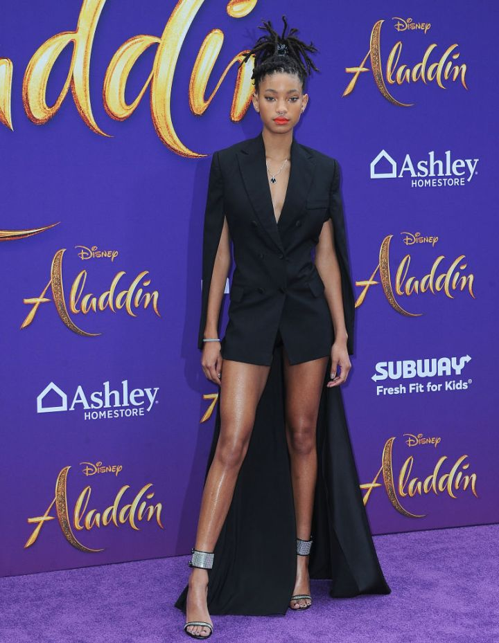 "WILLOW SMITH AT THE PREMIERE OF DISNEY'S ""ALADDIN"", 2019"