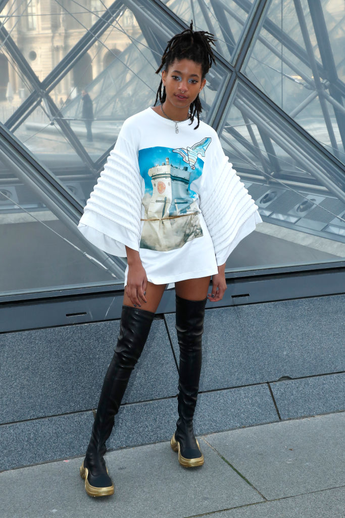 WILLOW SMITH AT THE LOUIS VUITTON SHOW FOR PFW, 2019
