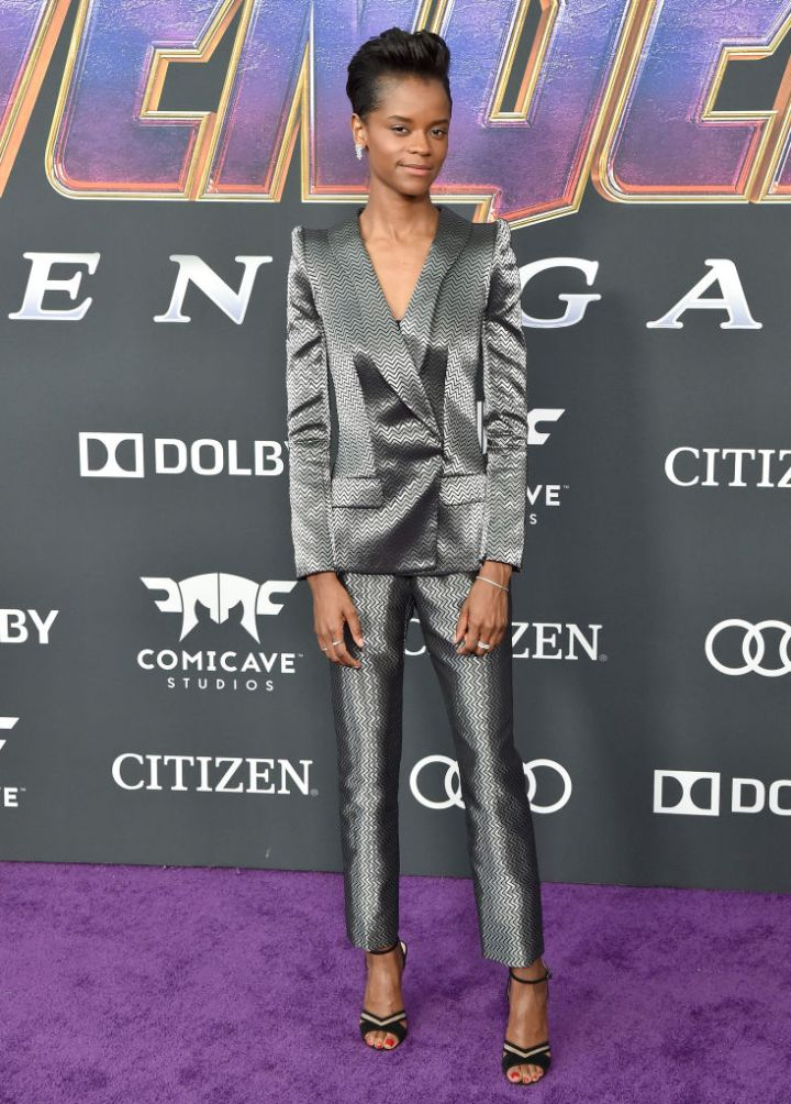 """LETITIA WRIGHT AT THE WORLD PREMIERE OF WALT DISNEY STUDIOS MOTION PICTURES """"AVENGERS: ENDGAME"""", 2019"""