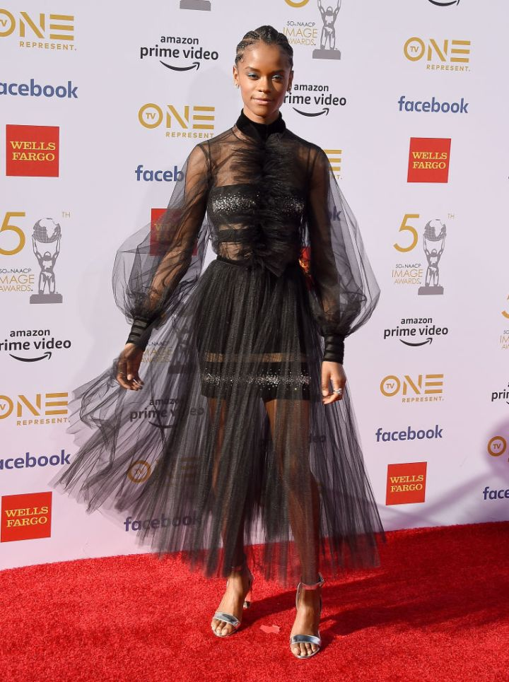 LETITIA WRIGHT AT THE 50TH NAACP IMAGE AWARDS, 2019