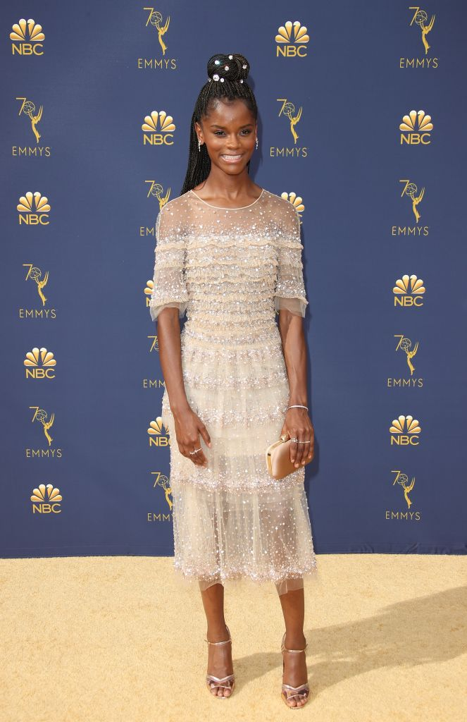 LETITIA WRIGHT AT THE 70TH EMMY AWARDS, 2018