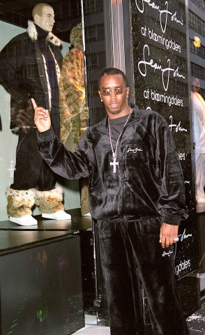 Sean P. Diddy Combs at Unveiling of Bloomingdale's Fall 2000 Windows Featuring Sean John