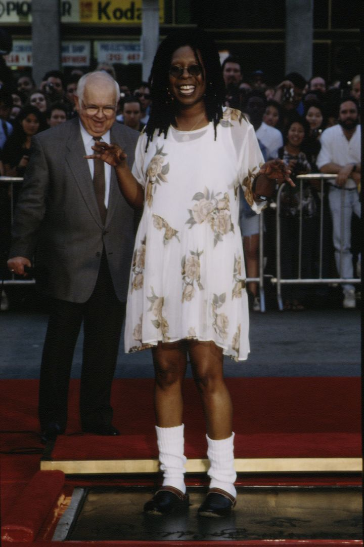 WHOOPI GOLDBERG AT THE FOOTPRINT CEREMONY, 1995