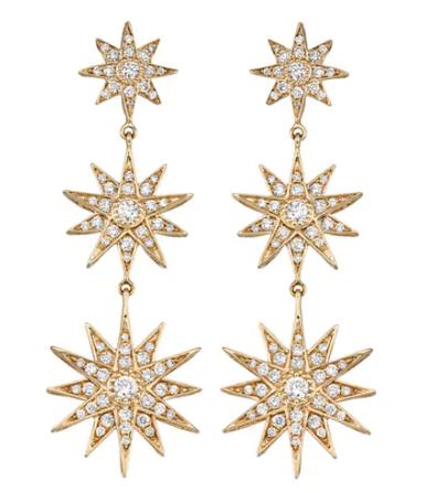 Star Drop Earrings ($2,500)