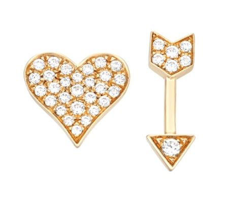 Heart & Arrow Earrings ($500)