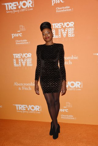Sasheer Zamata attends The Trevor Projects TrevorLIVE LA 2019 at The Beverly Hilton Hotel on November 17, 2019 in Beverly Hills, California\n© Jill Johnson/jpistudios.com