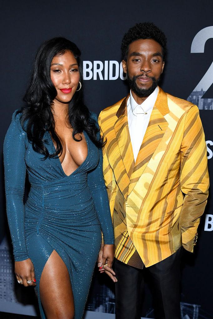 Chadwick Boseman & Taylor Simone Ledward Hit The Carpet