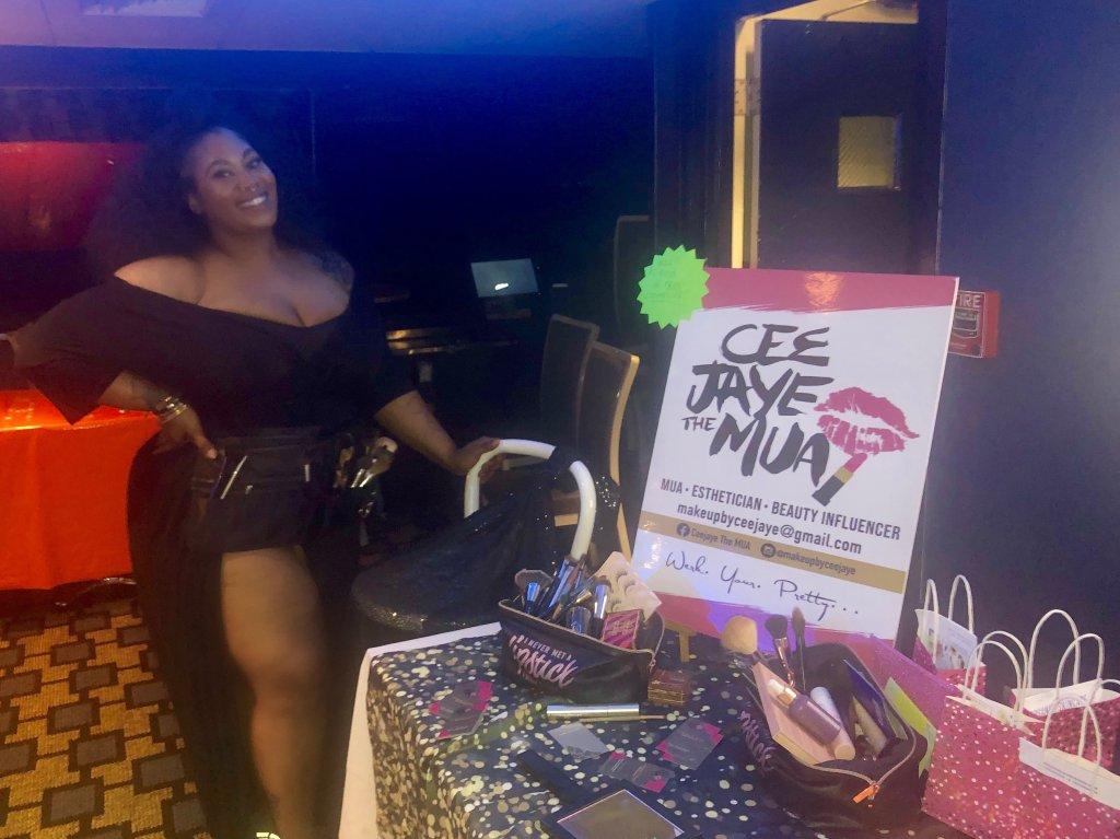 "Makeup artist Courtney ""CeeJaye"" Jones"