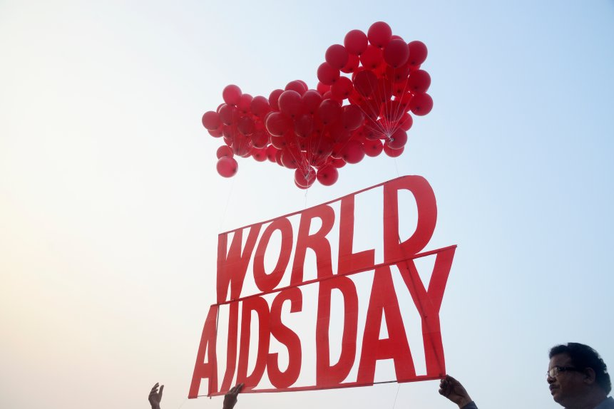 Social Activist release HIV/AIDS campaigns material and red...