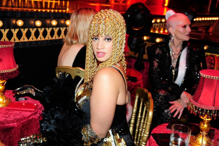 DASCHA POLANCO AT THE BLONDS X MOULIN ROUGE FASHION SHOW, 2019