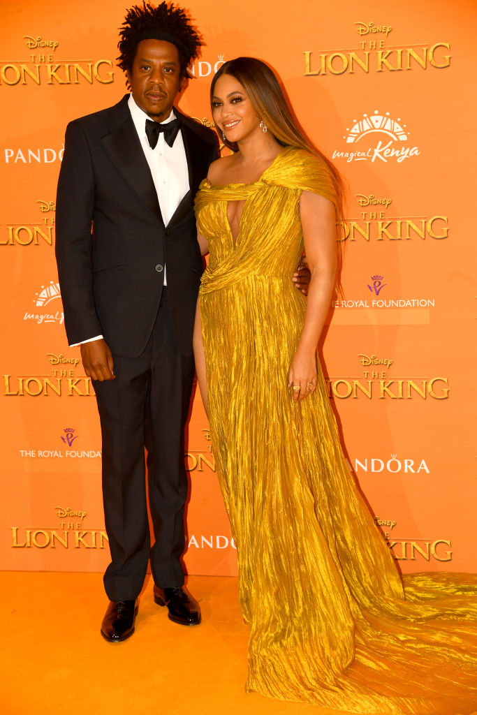 """JAY-Z AND BEYONCE AT """"THE LION KING"""" EUROPEAN PREMIERE, 2019"""