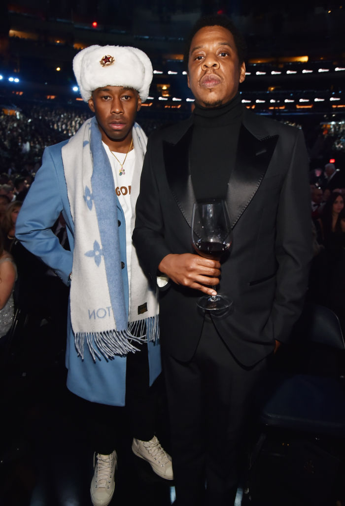 JAY-Z AND TYLER THE CREATOR AT THE 60TH ANNUAL GRAMMYS, 2018