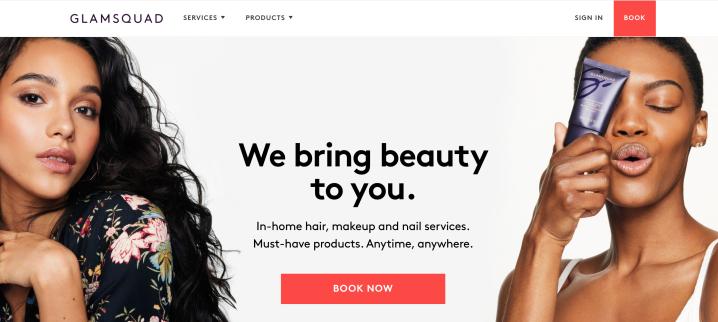 Glamsquad Homepage