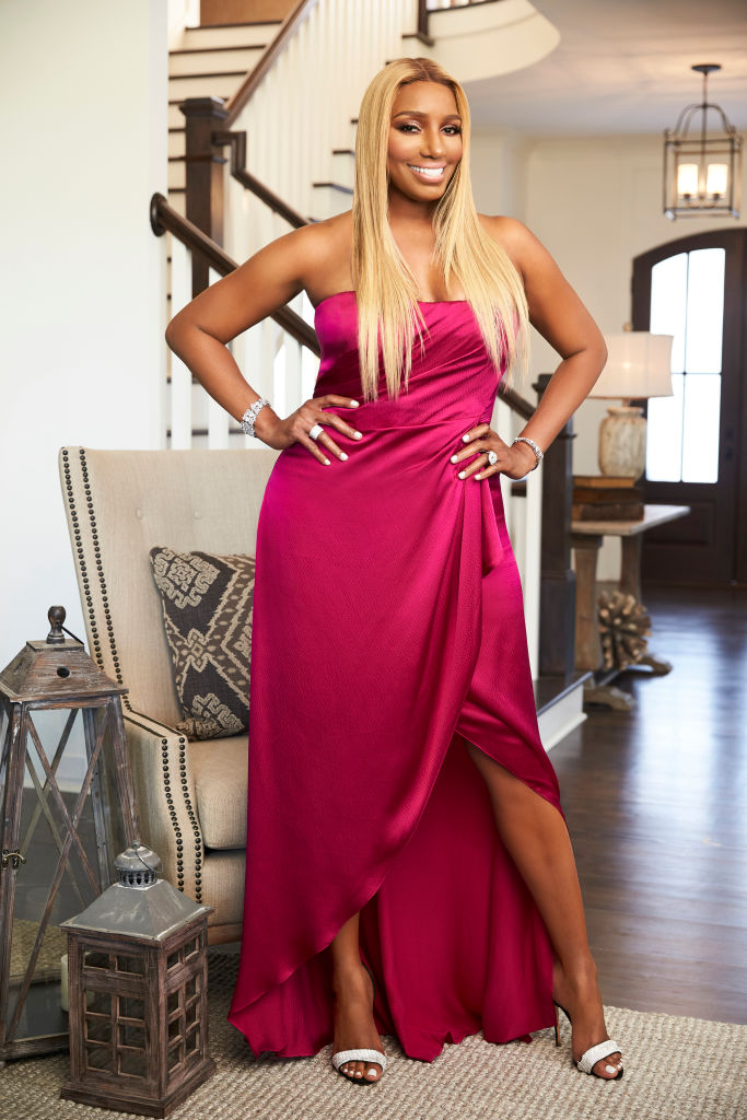 NENE LEAKES DURING A REAL HOUSEWIVES OF ATLANTA PROMO SHOT, 2017