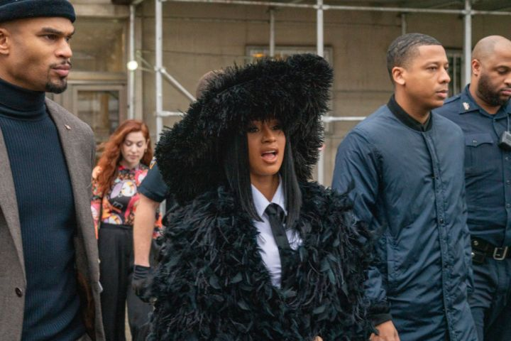 Cardi B Is a Feathery Fashionista On Her Way To Court