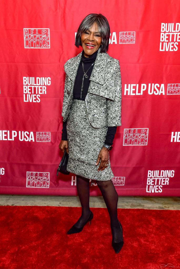 MS. CICELY TYSON AT THE HELP USA HEROS AWARDS GALA, 2018