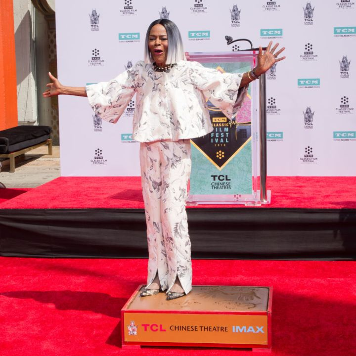 MS. CICELY TYSON AT THE TCM HONORS SCREEN LEGEND CICELY TYSON HAND AND FOOTPRINT CEREMONY, 2018