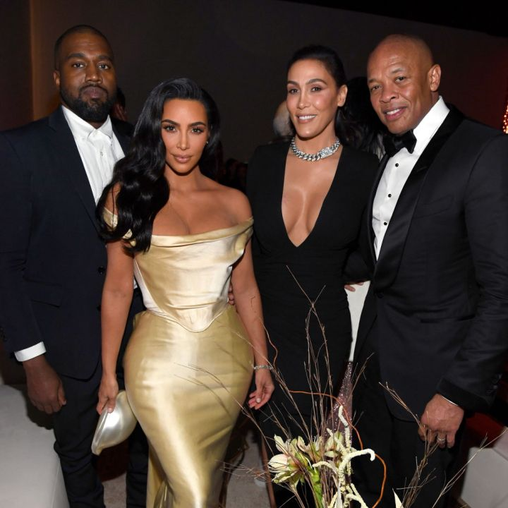 Kanye West, Kim Kardashian West, Nicole Young, and Dr. Dre