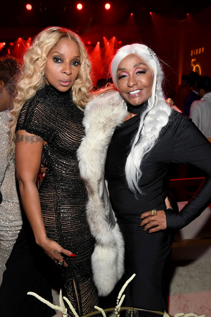 Mary J. Blige and Janice Combs