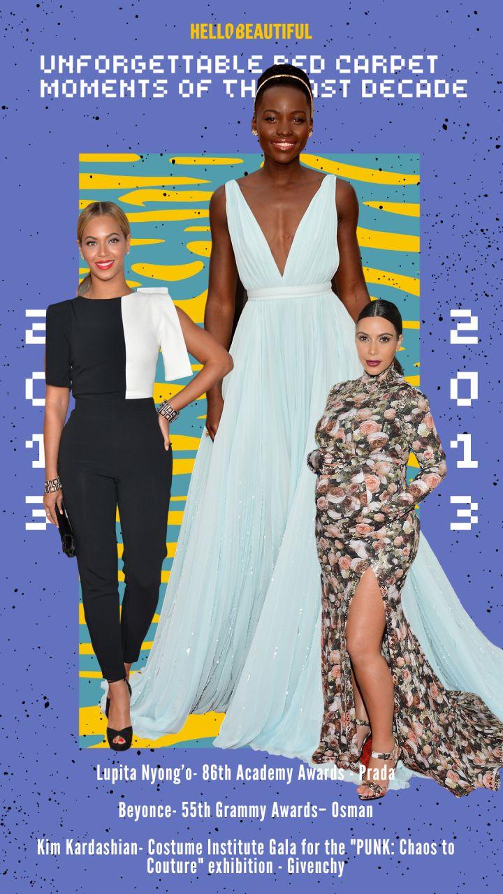 Beyonce, Lupita Nyong'o, Kim Kardashian