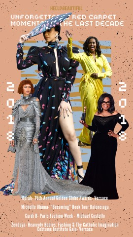 Cardi B, Michelle Obama, Zendaya, Oprah