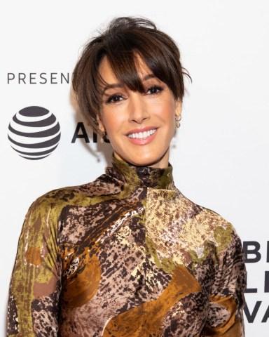 Jennifer Beals at the Tribeca Film Festival red carpet...