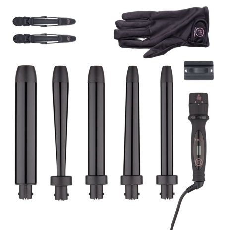 Bombay Hair Pro Hair Styling Tools 5-in-1 Curling Wand