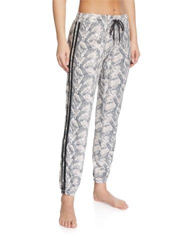 PJ Salvage Snake Print Jogger Pants