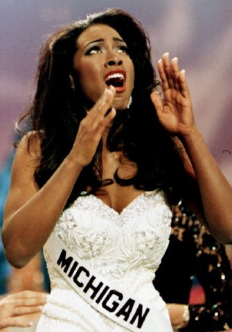Kenya Moore, Miss Michigan USA, a 22-yea