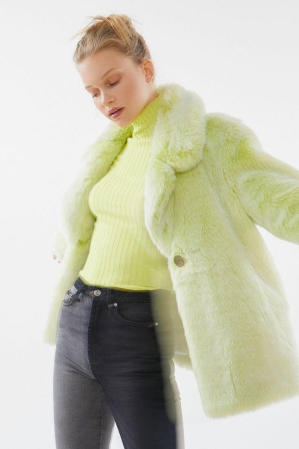 Avec Les Filles Boxy Faux Fur Coat