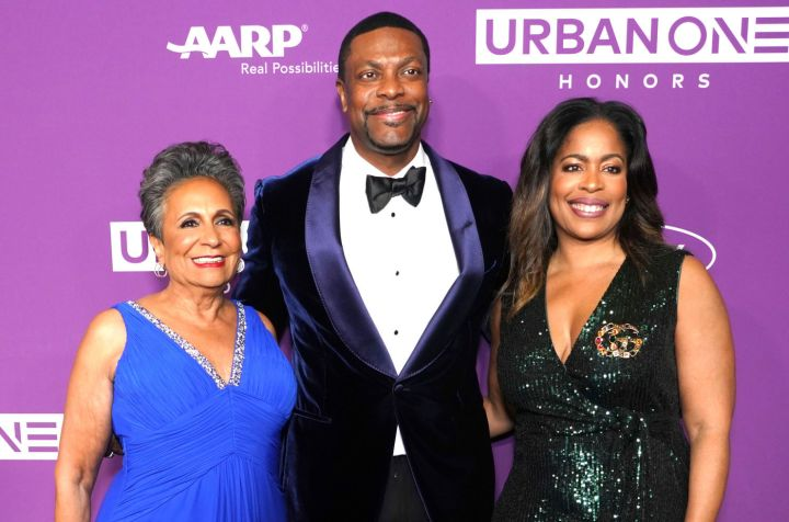 Cathy Hughes, Chris Tucker and Guest