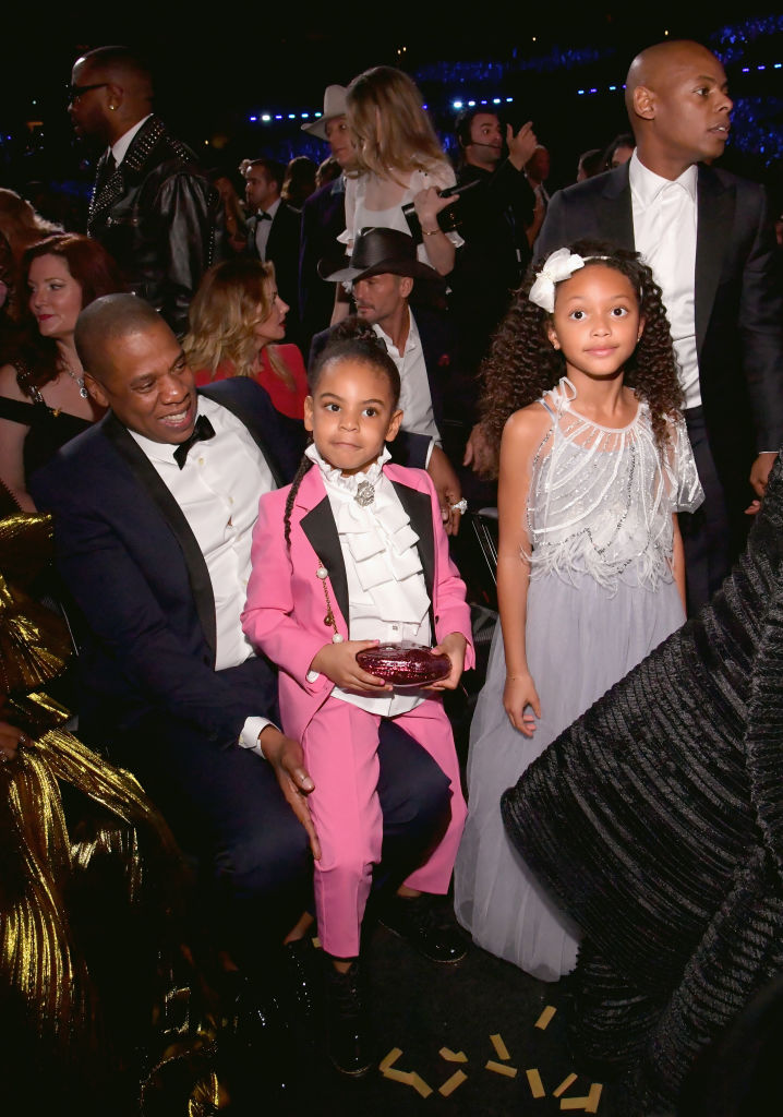 BLUE IVY AND JAY Z AT THE 59TH GRAMMY AWARDS, 2017