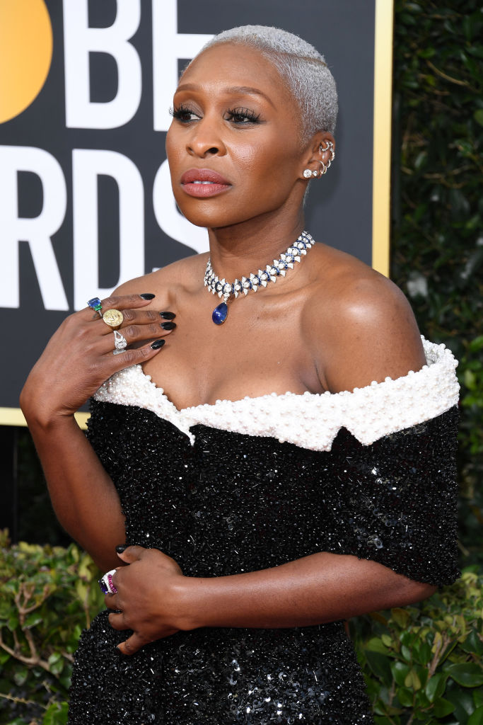 CYNTHIA ERIVO AT THE 77TH ANNUAL GOLDEN GLOBES AWARDS, 2020