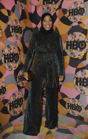 Ibtihaj Muhammad at the after-party for...